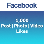 1000 Facebook Post | Photo | Video Likes
