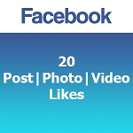 20 Facebook Post | Photo | Video Likes