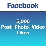 5000 Facebook Post | Photo | Video Likes