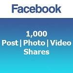1000 Facebook Post | Photo | Video Shares