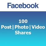 100 Facebook Post | Photo | Video Shares