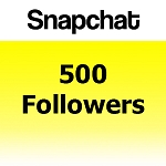 500 Snapchat Followers