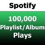 100000 Spotify Playlist Album Plays