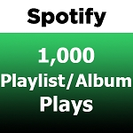 1000 Spotify Playlist Album Plays