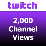 2000 Twitch Channel Views