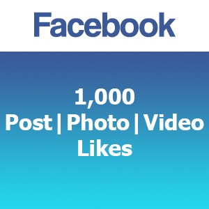 Buy 1000 Facebook Post Photo Video Likes