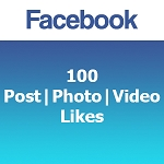 Buy 100 Facebook Post Photo Video Likes