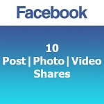 Buy 10 Facebook Post Photo Video Shares