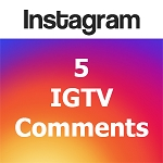 Buy 5 IGTV Comments
