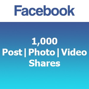 Buy 1000 Facebook Post Photo Video Shares