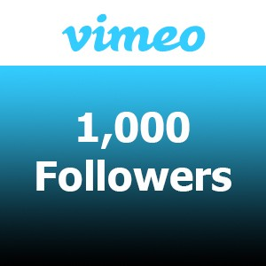 Buy 1000 Vimeo Followers