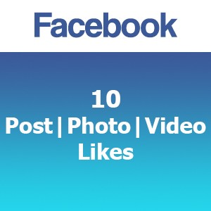 Buy 10 Facebook Post Photo Video Likes